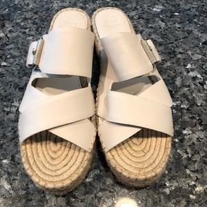 8ad4a59801f Marc Fisher Shoes - Marc Fisher White Leather Espadrilles - Size 9M